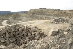 Stone pit scenery Stock Photo