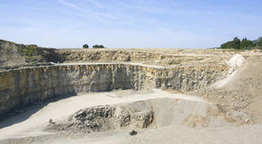Stone pit scenery Royalty Free Stock Image