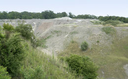 Stone pit at summer time Royalty Free Stock Images