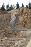 Stone-pit. Stone wall in stone-pit stock photos