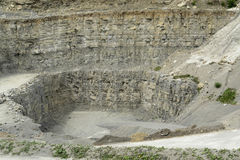 Stone pit walls Stock Images