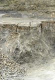 Stone pit walls Stock Photo