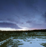 Stone pit in winter Stock Images