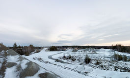 Stone pit in winter Royalty Free Stock Photo