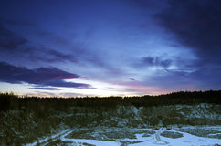 Stone pit in winter Royalty Free Stock Image