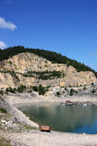 Stone pit on Zaovine lake Royalty Free Stock Photo