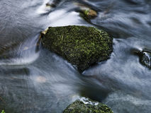 Stone in a pitch Royalty Free Stock Images