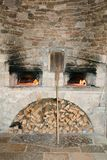 Stone pizza oven. Sibenik. Croatia stock photos
