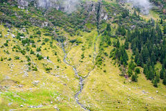 Stone plateau. Pass Transfegerash in Romania. Plateau with a bird's-eye view Stock Images