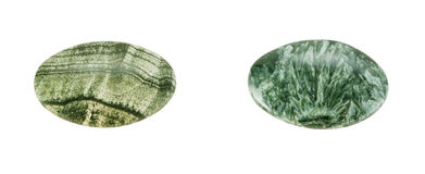 Stone plates of skarn and clinochlore Stock Photography