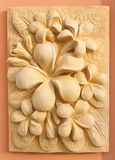 Stone Plumeria craft art design royalty free stock image