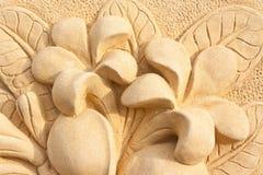 Stone Plumeria craft art design Stock Photography