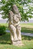 Stone polovtsian sculpture in park-museum of Lugansk, Ukraine Stock Images