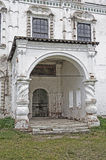 Stone porch of ancient church Stock Photos