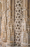 Stone portal Batalha, details. Royalty Free Stock Photos