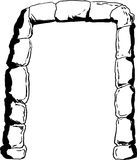 Stone portal illustration outline Royalty Free Stock Photography