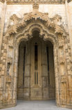 Stone portal in manuelino-style, Monastery of Batalha, Portugal. Royalty Free Stock Image