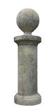 Stone Post. A post made of stone outlined Stock Photography
