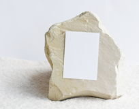 Stone with poster blank Royalty Free Stock Photo