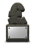 Stone pound sterling symbol Stock Images