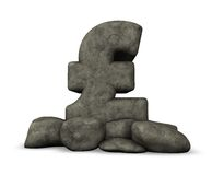 Stone pound sterling symbol Royalty Free Stock Image
