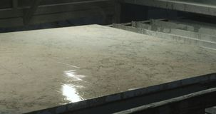 Stone processing finishing stock footage