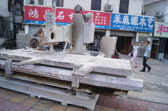 Stone processing shop Royalty Free Stock Photos
