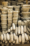 Stone products on open market. Burma, Mandalay Stock Image