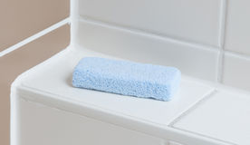 Stone pumice in a bathroom. Selective focus royalty free stock photography