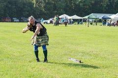 Stone Putter – Highland Games, Salem, VA Royalty Free Stock Photos
