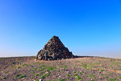 Stone pyramid Royalty Free Stock Photos