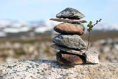 Stone pyramid Stock Photos