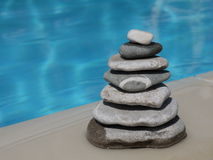 Stone pyramid in balance Stock Images