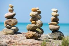 Stone pyramid Stock Image