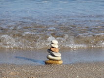 Stone pyramid Stock Images