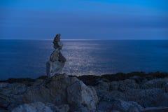 Stone pyramid at dusk in Croatia Royalty Free Stock Images