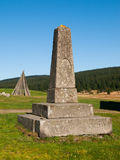 Stone pyramid monument Royalty Free Stock Photos