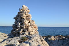 Stone pyramid Royalty Free Stock Photo
