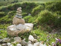 Stone pyrarmid Stock Photo
