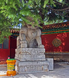 Stone Qilin statue at Lama temple, Beijing Stock Images
