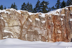 Stone Quarry. In winter. Photographed in Salo, Finland 13 March, 2010 Royalty Free Stock Photos