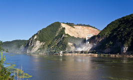 Stone quarry. On Danube shore near to Orsova Stock Images