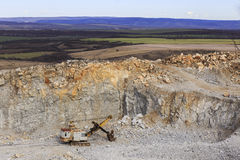 Stone quarry Stock Image