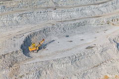 Stone quarry aerial Royalty Free Stock Image