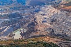 Stone quarry aerial Stock Photos