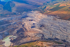 Stone quarry aerial Stock Image