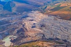 Stone quarry aerial Stock Image