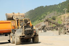 Stone quarry cargo Royalty Free Stock Photography