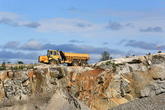 Stone Quarry and Clear Sky stock photography