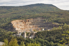 Stone quarry close to Solkan in Western Slovenia. Mountain stone quarry close to Solkan in Western Slovenia Stock Photo